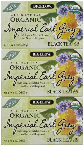 Bigelow Organic Imperial Earl Grey Tea Bags, 20 Ct, 3 Pk
