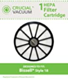 1 Bissell Replacement HEPA Filter For Bissell Style 18 HEPA Exhaust Filter Cartridge; Perfect For Your Bissell Healthy Home 16N5 Bagless Upright Vacuum; Compare to Part # 48G7, 203-1473, (2031473) by Crucial Vacuum