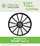 Bissell HEPA Filter Cartridge For The Bissell 16N5 Exhaust Circular Style 18 HEPA Filter Cartridge; Perfect For Your Bissell Healthy Home 16N5 Bagless Upright Vacuum; Compare To Part # 48G7, 203-1473, (2031473); Designed & Engineered by Crucial Vacuum