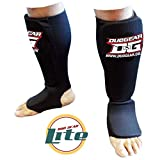 BLACK 'LITE' MUAY THAI KICKBOXING KARATE MARTIAL ARTS TRAINING SPARRING SHIN & INSTEP PROTECTORS
