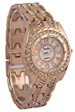 Timiho Rose Gold Dial Studded Analog Watch For Women.