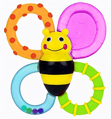 Sassy Buzz n' Bite vibrating TEETHER baby teething toys by Sassy