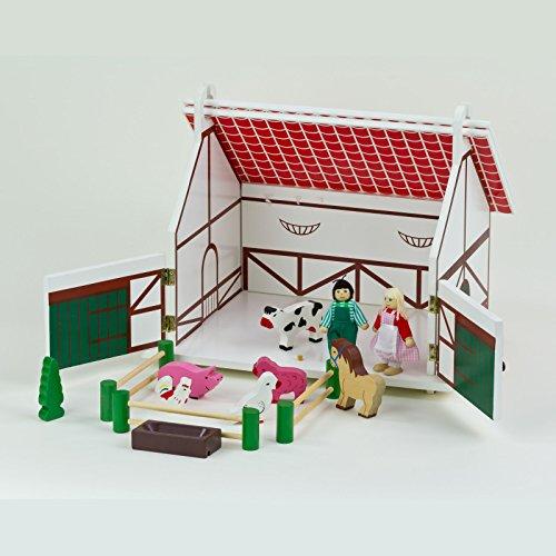 Eichhorn Spielzeug Holzbauernhof Holz-Bauernhof Pferdestall Tiere Holzspielzeug
