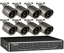 Q-See QT5680-8E4-1 8 Channel Full D1 Security Surveillance System with 8 High-Resolution 700 TVL Cameras and 1 TB Hard Drive (Gray/Black)