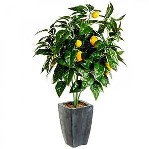arbre fruitier artificiel citrons citronnier plante. Black Bedroom Furniture Sets. Home Design Ideas
