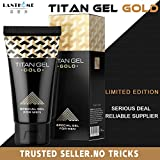 Hot New Original Titan Gel Gold Penis Enlargement Cream Retarder Intim Gel erection Cream For Male Potency Increase Sex Time