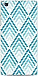 Snoogg Super Blue Design Designer Protective Back Case Cover For Huawei Ascen...