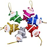 Tinksky Santa Claus Pendant for Christmas Tree Hanging Decorations 24 pcs Random Color