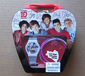 1D 1 Direction One Direction LCD Watch and Bracelet Set in Keepsake Box from MZ Berger