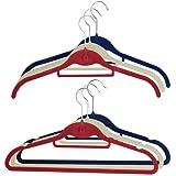 JVL - Grucce appendiabiti, confezione da 30 pezzi, colore: Rosso/Blu/Bianco