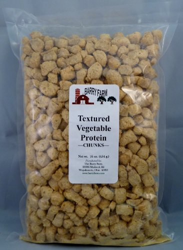 Textured Vegetable Protein Chunks, 1 lb.