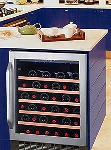 cave vin de service 1 temp 50 bouteilles noir avintage aci avi573e encastrable. Black Bedroom Furniture Sets. Home Design Ideas