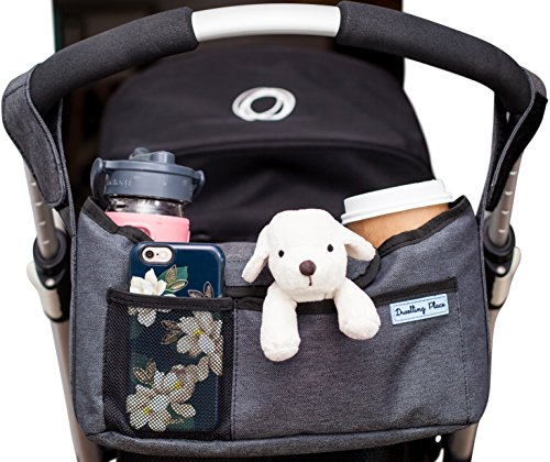 Deluxe Stroller Organizer   Universal Fit, Two Insulated Cup Holders, Lightweight Design   Lifetime 100% Satisfaction Guarantee!