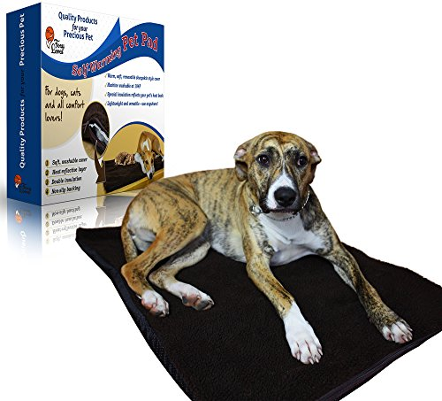 Foxy Loves Self-Heating Pet Pad Bed for Dogs & Cats with Reflective Thermal Insert and Removable Cover in Chocolate Color, Non-Electrical (No Electric Heating Blanket compare prices)