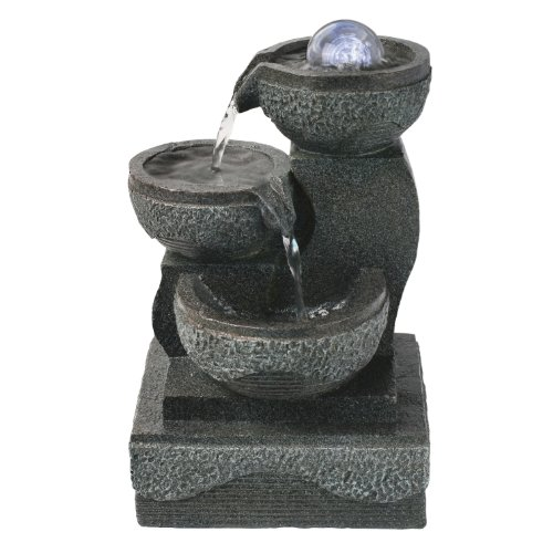 Astonica Indoor Lighted Table Top Water Fountain White