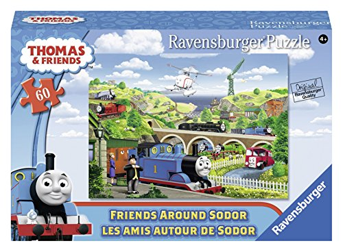 Ravensburger Thomas & Friends Around Sodor Puzzle in a Suitcase Box (60 Piece)