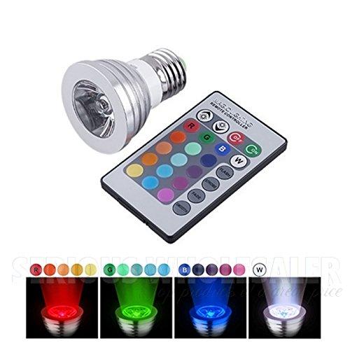 New 3W E27 16 Color 80Lm Wireless Remote Control Led Rgb Magic Light Bulb
