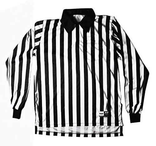 3N2 7006-Xxl Referee Shirt Long Sleeve Football, Black And White - 2 Extra Large
