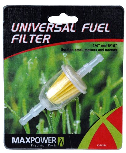 Maxpower 334284 1/4-Inch Or 5/16-Inch Deluxe Fuel Line Filter 3-1/2-Inch Long