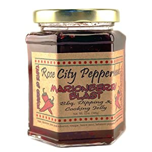 Marionberry Blast Pepper Jelly: Rose City Pepperheads 12oz. by Rose City Pepperheads