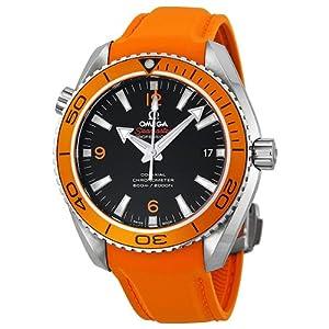 Amazon.com: Omega Seamaster Planet Ocean Automatic Black Dial Orange