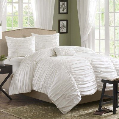 Full white comforter sets beautiful bedroom for Beautiful bedroom comforter sets