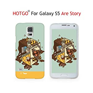 HOTGO® TPU Silikon Gel Ultra Dünn Fit Slim Hülle Tasche Case Cover Backcover Rückseite Haut für Samsung Galaxy S5 S V i9600 - Pattern 1