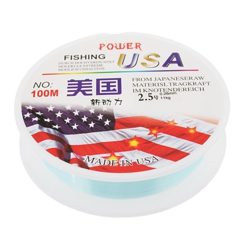 Super Strong Power 100M Crystal 0.26mm Diameter 11kg Fishing Line String #2.5 by AHMET