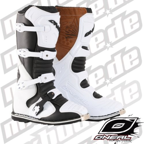 0324-208 - Oneal Taranis ES Motocross Boots 8/41 White (UK 7)