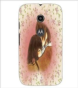 Printdhaba Couple D-4202 Back Case Cover For Motorola Moto E2