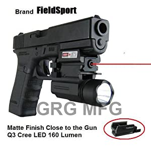 Tactical Pistol Compact Red Laser with QD Quick Release Flash Light Compatible with... by GRG MFG