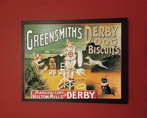 """Derby Greensmiths biscotti, stile vintage, motivo: quadri, da parete """""""