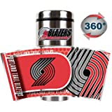 NBA Portland Trail Blazers Metallic Travel Tumbler, Stainless Steel and Black Vinyl, 16-Ounce at Amazon.com