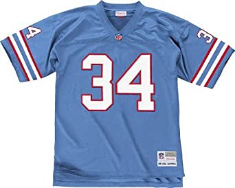 Houston Oilers Earl Campbell Blue Mitchell and Ness Replica Throwback Jersey (Small)