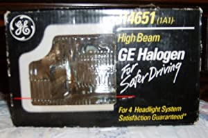 Ge Sealed Beam Headlamp Rectangular Halogen Lamp No. H4651 12 V Boxed