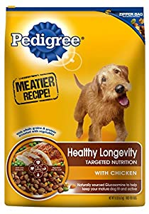 PEDIGREE Healthy Longevity Targeted Nutrition with Chicken and Rice Dry Dog Food, 15 lb. Bag (Pack of 1)