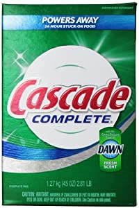Cascade Complete, Powder Dishwasher Detergent, Fresh Scent 45 Oz (Pack of 2)