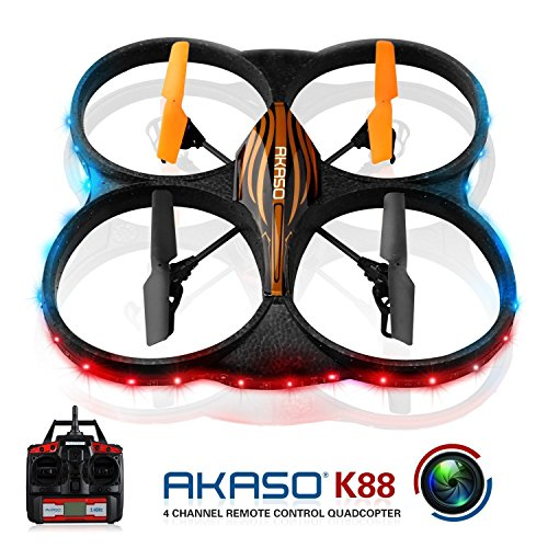 6 Axis Gyro RC Quadcopter with HD Camera, 360-degree Rolling Mode