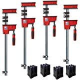 Bessey KRK2450 K Body REVO Fixed Jaw Parallel Clamp Kit Includes: 2-24-inch, 2-50-inch K Body Clamps and 1 set of KP Blocks