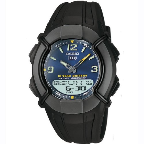 CASIO Unisex Quartz Watch with Grey Dial Analogue/Digital display and Black Resin Strap HDC-600-2BVES
