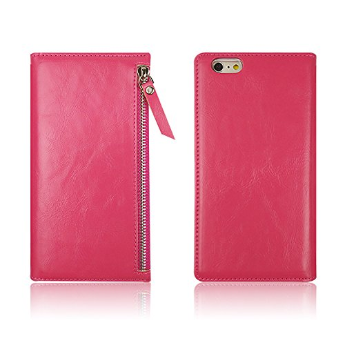 D & Q ® %2F6S Iphone 6-Custodia ULTRA-Custodia in pelle con chiusura verticale, 100% protezione con supporto Custodia a portafoglio con scomparti per carte di credito e contanti %2F %2F