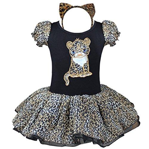 Tiaobug Mädchen Kleid Ballettkleid Katze Kinder Kostüm Ballettanzug Tütü Rock mit Haarreif