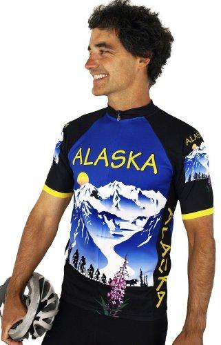 Buy Low Price Alaska Majestic Short Sleeve Cycling Jersey (B008VMV3PA)