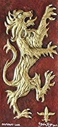 Rampant Lion - Cast Paper - Celtic art - Emblem of Scotland - Scottish Heraldry - wall art - side pieces