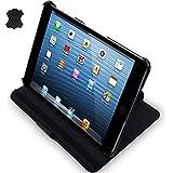 MANNA iPad Mini 3 und Mini 2 Retina Ultraslim Leder Tasche Case Etui Sleeve Cover Schutzhülle Hülle, III. Generation mit Easystand & CleverStrap, Echtleder | Autosleep - Funktion