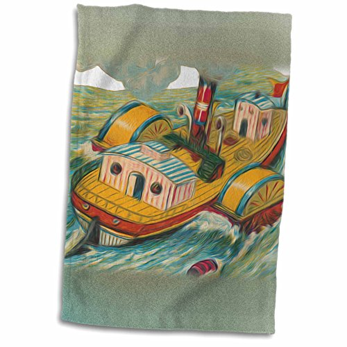 3dRose Dooni Designs Vintage Designs - Vintage Steamboat Steamer Nautical Illustration - 12x18 Towel (twl_104670_1) (Steamboat Steamer compare prices)