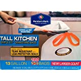 Member's Mark Tall Kitchen Simple Fit Drawstring 13 Gallon Bags 180 ct.