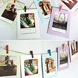 GOTD Wall Decor DIY Paper Photo Picture Frames 4x6\