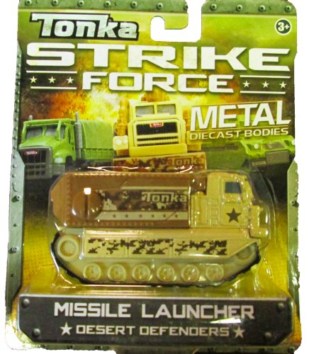Tonka Strike Force - Metal Diecast Bodies - Desert Defenders - Missile Launcher (tan)