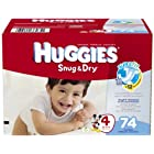 Huggies Snug and Dry Diapers (Size 4, Pack of 74)